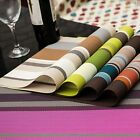 Tableware Placemat Dining Striped Dining Cup Pad PVC Insulation Table Coasters