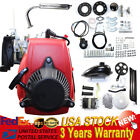 49CC 4-Stroke Gas Petrol Motorized Bike DIY Engine Motor Kit Scooter+Belt Gear