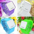 the faceless watch - Faceless Silicone Band Mirror Watch Sport Digital Date LED Display Wrist Watch