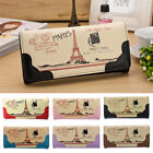 New Womens Leather Purse Clutch Leather Wallet Long Card Holder Phone Handbags