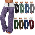 YOGA Fitness Foldover Pants Flare Leg Womens Athletic Workout Gym T Party M472