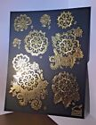 Create & Craft Black & Gold Embossed Decoupage Birthday Invitation Card Kit