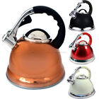 3.5L STAINLESS STEEL WHISTLING KETTLE GAS ELECTRIC HOB FAST BOIL KITCHEN CAMPING