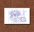Harley Davidson Engine and Transmission Blueprint Plan - BP0293 $13.0 USD