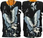 Tunique tee shirt ample Drapé Papillon Noir - THANIA - Charleselie94®