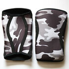 TRAININGEAR Knee Sleeves Camo Gray Scale WOD Crossfit Lifting Support 7mm Sleeve