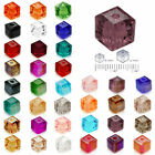 Free Shipping 50pcs 4mm Cube Square Faceted Crystal Austria Colorful Loose beads $0.99 USD on eBay