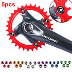 5pcs Alloy Cycling CNC Aluminum Single Crank Chain Ring Bolt Fit for Bicycle