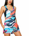 adidas Originals Short Jumpsuit Summer Print Playsuit LA California Beach Surf