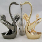 Swan Spoon Holder Table Tableware For Coffee Spoons Fruit Forks Cutlery Decor