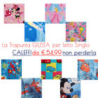 CALEFFI DISNEY - MARVEL TRAPUNTE PER LETTO 1P OFFERTA MINNIE,CARS,PRINCESS,TITTI