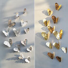 3D Gold and Silver Hollow Butterfly  Living Room Decor Art Wall Stickers Bedroom