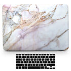 Pink Marble Shell Rubberized Hard Case Cover for Macbook Pro 13/15 Touch Bar Mac