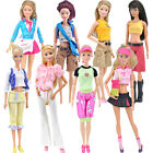 E-TING Blouse Pants Dress Outfit Handbag Clothes Accessories for Barbie Doll A