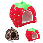 Soft Strawberry Bed Pet Dog Cat House Kennel Fashion Cotton Cushion Basket