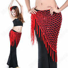 Triangle Hand knit Belly Dance Costume Veil Scarf  Shawl Skirt 10 Colors