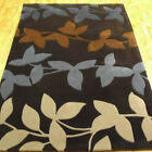 NEW CHOCOLATE BLUE HARLEQUIN DESIGNER BRAND PREMIUM QUALITY RUGS FOR CLEARANCE