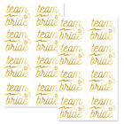 PACK OF 16 TEAM BRIDE GOLD TEMPORARY TATTOOS HEN PARTY NIGHT DO
