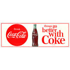 Coca-Cola Things Go Better With Coke 1960s Wall Decal Restaurant Kitchen Decor $6.99  on eBay