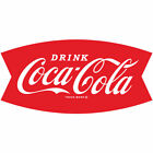 Drink Coca-Cola Fishtail Logo 1960s Wall Decal Restaurant Kitchen Decor