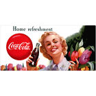 Coca-Cola Girl with Flowers Home Refreshment Wall Decal $6.99  on eBay