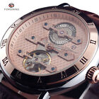 Super Luxury Mens Automatic Mechanical Watches Steel Case Leather Strap