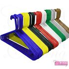 NEW STRONG HEAVY DUTY PLASTIC COLOUR HANGERS SKIRT HOOK CLOTHES COAT TROUSER BAR