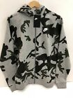 NEW Nike Sportswear Club Camo Fleece Hoodie GREY CAMO