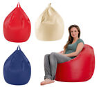 Adult Size X Large Classic Bean Bag Chair  Supple Faux Leather