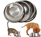 STAINLESS STEEL. Non Skid Pet Dog Puppy Cat Bowl Dish. Feeding Bowl. USA Seller
