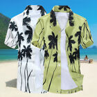 Men's Casual Shirts Palm Tree Floral Holiday Beach Camp Shirts Button Down Tops