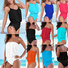Womens Ladies One Piece Bikini Swimsuit Swimwear Bathing Beach Suit Plus Size UK