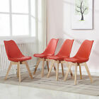 2 4 6 PCS High Back Faux Leather or Fabric Dining Chairs Metal Furniture Set