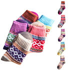 1/5Pairs Women Ethnic Style Vintage Thick Socks Warm Knitted Wool Nordic Socks
