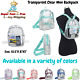 Clear MINI Backpack Collegiate See Through Transparent Bag Stadium Approved NEW photo