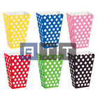8 Scalloped Popcorn Treat Polka Dots Spot Style Boxes Favour Party Birthday