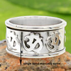 MEDITATION HEALING SPINNER Ring 925 Sterling Silver Band Choose Size US 7,8,9