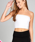 Fashion Solid Cropped Tube Top Layering  Stretchable Spandex (S-3XL)