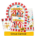 CIRCUS CARNIVAL Birthday Party Tableware, Banners, Balloons & Decorations -UQ 1C