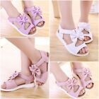 2018 Summer Infant Kids Children Sandals Fashion Bowknot Simple Girls Flat Shoes