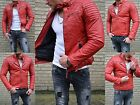 Young Fashion Men's Waisted Tapered Fitted Party Club Biker Rocker Jacket