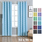 Lattice Design 52 x 96-Inch Window Drapes Curtains 2 Panels with Grommet Top