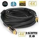 3d support ps4 - 30FT HDMI 2.0 Cable, Support HDTV, PS4 , Blu-ray, 2160P, 3D, 4K, HDCP 2.2, 4:4:4