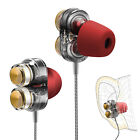 Dual Dynamic Speaker 3.5mm Stereo Earphone In-Ear Headphones With Microphone