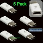 10 Pack Micro USB to Type C Adapter Converter Micro-B to USB-C Connector 10x