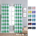 Cabana Stripe 52 x 96-Inch Window Drapes Curtains 2 Panels with Grommet Top