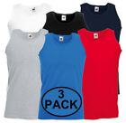3 Pack Fruit of the Loom Mens Athletic Vest Plain Tank Top - S, M, L, XL, 2XL <br/> ✔100% Authentic ✔UK SELLER ✔FAST DELIVERY