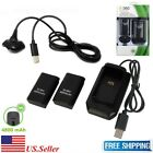 Rechargeable Battery Pack Charger Cable Dock for Xbox 360 Wireless Controller