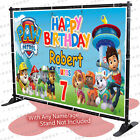 Paw Watch Personalized birthday banner backdrop children party decoration A KID