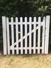 White Primed Picket Gate Wooden Traditional Cottage Shabby Chic
